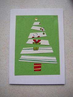 Joulukortti joulukuusi lahjapaperi