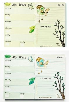 Completely own your week with a weekly planner that works. Available at http://boygirlparty.etsy.com #weekly #planner #calendar #notepad