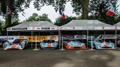 Someone likes Gulf livery. And race cars. And has lots of money.