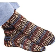 Men's crochet sock pattern free