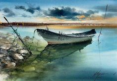 Watercolor Water, Watercolors, Drawings, Outdoor, Pontoon Boats, Rock Cakes, Ocean Waves, Outdoors, Water Colors