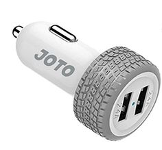 Introducing USB Car Charger  JOTO Dual Ports USB Car Charger 48A24W with Smart IC Intelligent High Speed Charging Wheel Series  Portable Quick Car Charger compatible with Apple and Android devices iPhone iPad Apple Watch Samsung Galaxy Galaxy S6 HTC M9 Nexus Motorola Nokia Sony MP3 GPS Bluetooth Speaker and More Mobile Smartphones and Tablets UNIVERSAL Portable Rapid Travel Charger 2 Ports Quick USB Car Charger Adapter Light Grey  White. Great Product and follow us to get more updates!