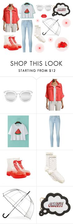 """""""Refresh"""" by athena-94-97 ❤ liked on Polyvore featuring Quay, Peserico, Frame Denim, Calvin Klein, ShedRain, Sophia Webster and Lime Crime"""