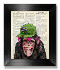 7 отметок «Нравится», 3 комментариев — ARTPAGE (@artpageshop) в Instagram: «Monkey & Snapback #Monkey #Snapback #Art #Print»
