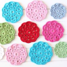 Crochet coasters make sweet gifts and are a great way to use leftover yarn. Check our our favourite tutorials.