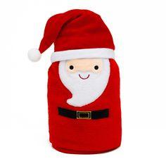 Koc Świąteczny z elementami Mikołaj Miko 80x100 cm Drink Sleeves, Merry Christmas, Merry Little Christmas, Merry Christmas Love, Wish You Merry Christmas