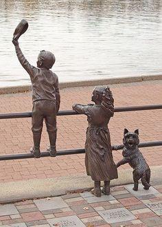 Cairn terrier statue