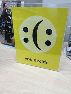 You decide : emoticon happy or sad : fiction display at MEI Secondary Library