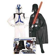 Disfarce Infantil - Pack Darth Vader + Clone Trooper Star Wars
