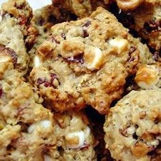 Oatmeal Cranberry White Chocolate Chunk Cookies.  This recipe comes out perfect every time.  I also add 1/2 tsp cinnamon to the mix.