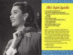 Mayberry Ellie's Confetti Vegetables Recipe Postcard