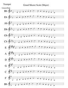 In case you didnt know! Music Scales Chart, Trumpet Fingering Chart, Trumpet Sheet Music, Education Architecture, Teaching Music, Head Start, Celebrity Weddings, Art Quotes, Trumpet