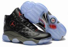 Nike Air Jordan 13 Transparent Shoes Black