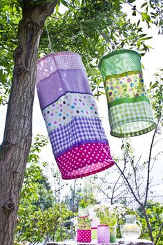 Add solar light to top and make lanterns