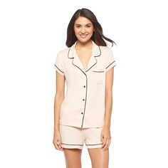 Make any night instantly cozier with this Women s Pajama Set Total Comfort  by Gilligan   O Malley™. The short sleeves keep it lightweight 28e3c77d2