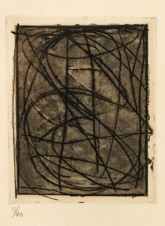 """Jasper Johns """"0 - 9"""" from 1st Etchings, 2nd State : Lot 1021. Hammer Price- $3,000"""