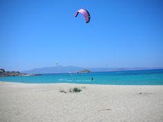 Mikri Vigla #beach on #Naxos island is famous for #kiteserfing.