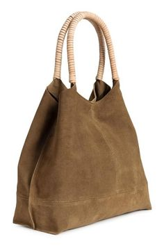 347942c2f69 PREMIUM QUALITY. Soft suede shopper with two handles wrapped in thin  leather straps at the