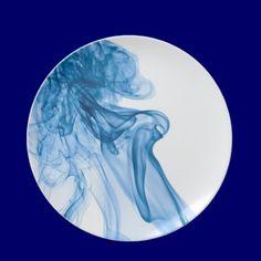 Blue smoke dinner plate by Ixodoi_Art $24.95
