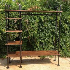 Vintage Industrial Gas Pipe Retail Display Unit Hanging Clothes Rail Shop in…