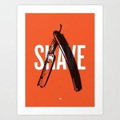 Barbershop Design Ethos / Shave Art Print by SteveStP - $17.68
