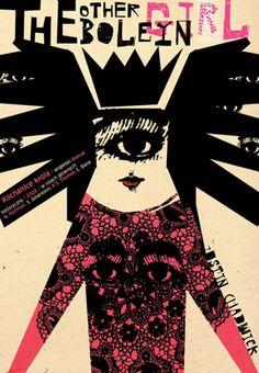 Polish film poster for 'The Other Boleyn Girl' - Justin Chadwick dir. ( Poland / movie / cine / cinema / abstract / illustration )