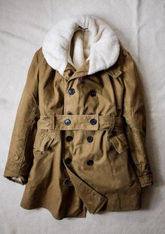 1943 Canadian Army Wool Lined Brown Khaki by SaundersMilitaria