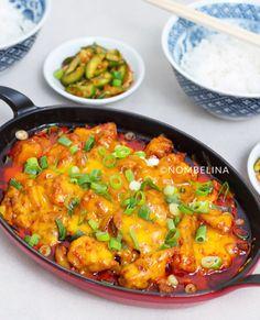 Buldak - Koreaanse pittige kip met kaas Vegetarian Recipes, Snack Recipes, Healthy Recipes, Asian Kitchen, Asian Recipes, Ethnic Recipes, Jambalaya, Dim Sum, Korean Food