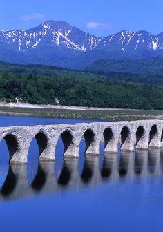 Taushubetsu river bridge (Abolition route Shihorosen ), Hokkaido, Japan
