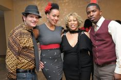 Sharon and Maya Azucena - MTV Award Winner Singer and her band - at our Valentine's Tea Soiree.  Love her band.  They made my event extra special.  Thanks for comeing out to NJ to entertain us!
