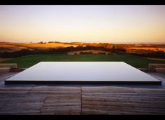 Infinity pool at the Crop Circle House in Australia.