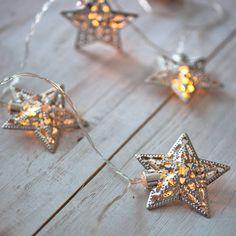 Filigree Star Battery Fairy Lights
