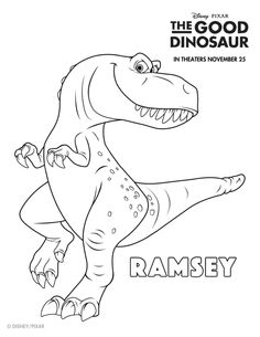 Disney The Good Dinosaur Free Printable Ramsey Coloring Page