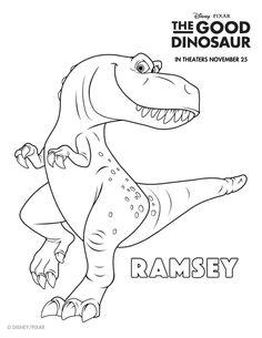 disney the good dinosaur free printable ramsey coloring page more - Disney Dinosaur Coloring Pages