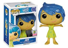 Disney Inside Out: Joy with sparkle hair Pop! figure by Funko, San Diego Comic Con exclusive 2015