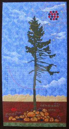 Radiocarbon Dating: Oldest Living Tree, art quilt