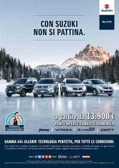 Sabato 20 e domenica 21 febbraio, Porte Aperte alla Gamma Suzuki 4x4 ALLGRIP presso le concessionarie ufficiali per conoscere la tecnologia 4WD ALLGRIP