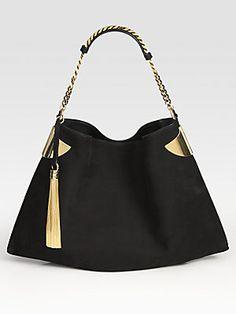 Gucci 1970 Medium Nubuck Shoulder Bag
