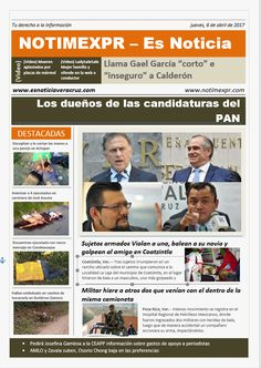 La Información más destacada con NOTIMEXPR – Es Noticia. jueves, 6 de abril de 2017 - http://www.esnoticiaveracruz.com/la-informacion-mas-destacada-con-notimexpr-es-noticia-jueves-6-de-abril-de-2017/