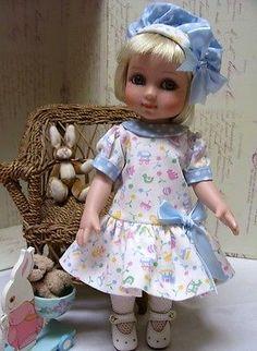 "Tonner Patsy, Ann Estelle Dropwaist Dress Pattern, Slip, Panties, Hats 10"" Doll"