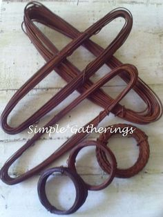 Primitive Rusty Wire Assortment ~ 6 Sizes 16 18 20 22 24 Gauges & 20/22 Twisted  #Unbranded