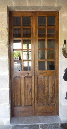 Porte vitr e 4 carreaux bois chaleureux et d coratif for Belles portes interieures