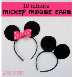 Como fazer as orelhinhas do Mickey e Minnie para o Carnaval?    por Renata Juliana | Just Real Moms       - http://modatrade.com.br/como-fazer-as-orelhinhas-do-mickey-e-minnie-para-o-carnaval