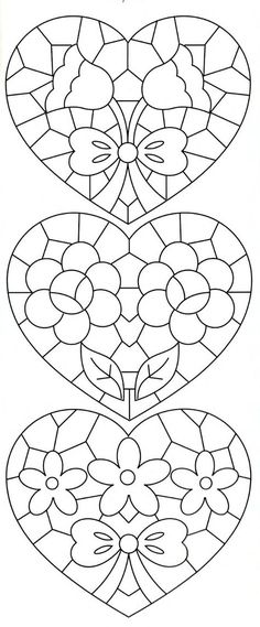 Richelieu e Bainha Aberta: Riscos de Richelieu(net)Lene Richelieu e Bainha Aberta: Riscos de Richelieu(net) Embroidery Hearts, Embroidery Patterns, Hand Embroidery, Stitch Patterns, Stained Glass Patterns, Mosaic Patterns, Stencil, Coloring Book Pages, Mosaic Art