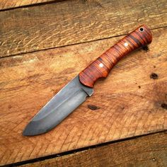 Custom Hunting Knife in Curly Maple