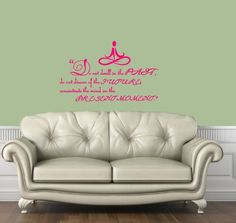 Housewares Vinyl Decal Yoga Buddha Quote Past Present Future Moment Home Wall Art Decor Removable Stylish Sticker Mural Unique Design for Any Room ** Want additional info? Click on the image.