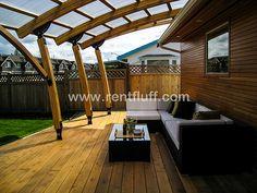 Beautiful covered deck.  www.rentfluff.com