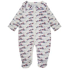Baby Girl's Toy Train Print Baby Grow. Available now at www.chocolateclothing.co.uk