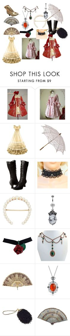 """""""Through the years: Victorian era"""" by livy8989 ❤ liked on Polyvore featuring Ellie Shoes, Bling Jewelry and Funtasma"""