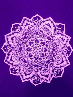Purple and pink glower mandala